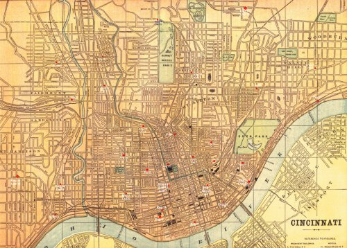 Map Of Cinti - Antique map dealers